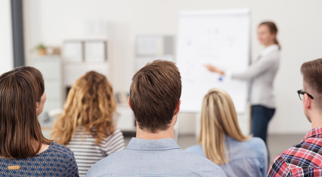 Image of a business training class
